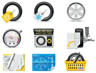 Car service icons. Part 1. Tires