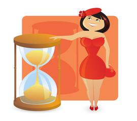 Women figure types: sexy hourglass