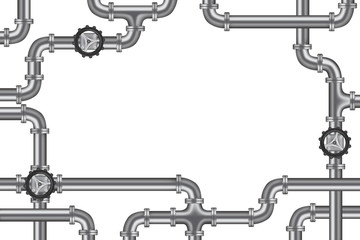 pipelines with valve and lots of copy space