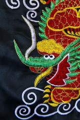 Chinese dragon embroidery thread