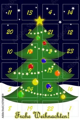 adventskalender weihnachtsbaum stockfotos und. Black Bedroom Furniture Sets. Home Design Ideas