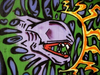 Alien-Wandbild