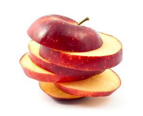 chopped red apple slices