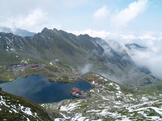 beautiful lake in Romanian Carpathians