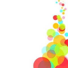 Colorful bubbles frame