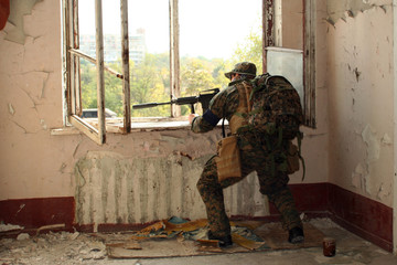 The military man fired from a window 01