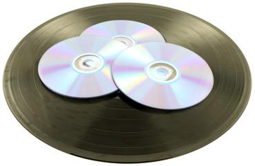 cd sur vinyl 33 tours