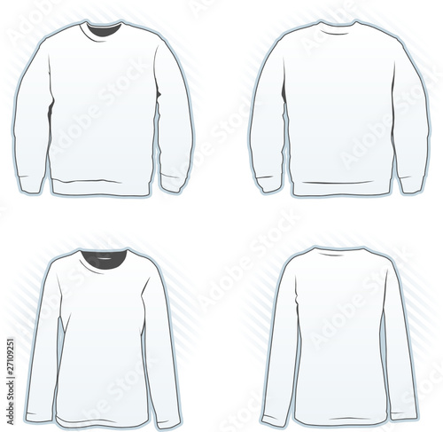 Sweatshirt Design Template Set Including Male And Female Stock - Sweatshirt design template