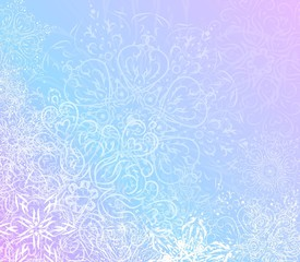 Winter lace background