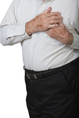 Mature man with heart pain