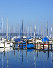 Segelboote am See - Sailing Boats at the Lake