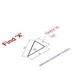 Mathematical examination question to find the value of X