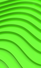 Modern Green Waves Background