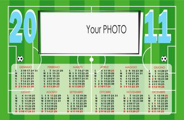 Calendario campo di calcio