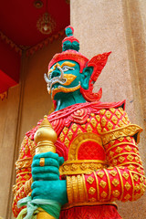 Giant in Wat Phra Chao Yai Ong Tue, Northeast Thailand