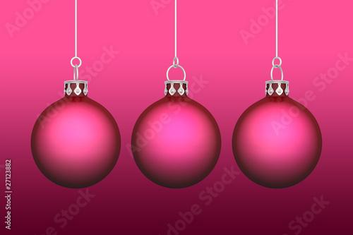 Weihnachtskugeln Pink.3x Weihnachtskugeln Hintergrund Rot Pink Stock Photo And