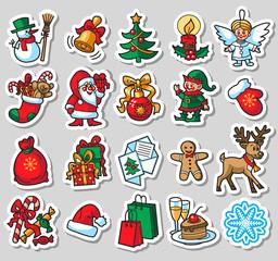 20 Christmas colorful icons