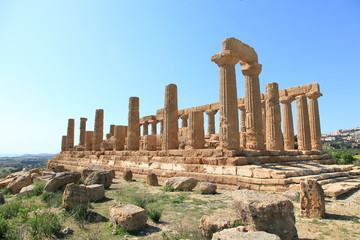 Valley of Temples in Agrigento of Sicily