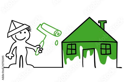 figur am haus streichen stockfotos und lizenzfreie vektoren auf bild 27132645. Black Bedroom Furniture Sets. Home Design Ideas