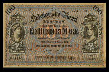 100 Mark 1911 Sachsen