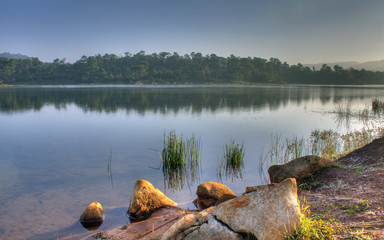 长湖的清晨