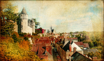 Montresor castle - Loire valley -artistic picture