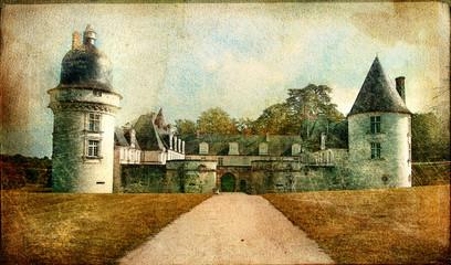 medieval castles of France - artistic series