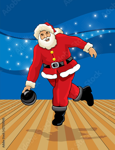 santa claus bowling stock image and royalty free vector. Black Bedroom Furniture Sets. Home Design Ideas