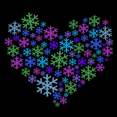 snowflake heart