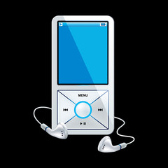 mp3 player white