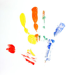 hand in paint