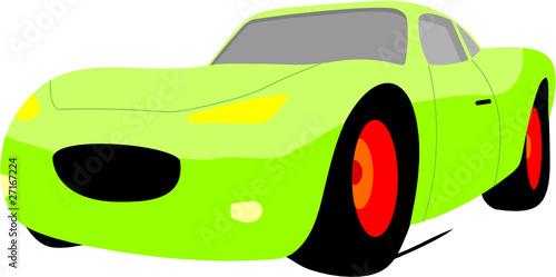 Wall mural GREEN CAR