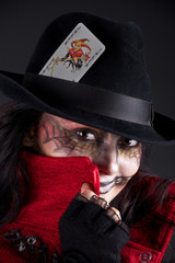 girl with joker