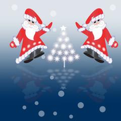 Card with Santa Claus