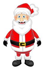 cute happy looking santa claus standing alone