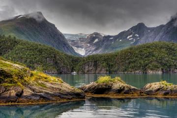 Piękny krajobraz Norwegii