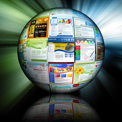 Abstract Internet Ball with Websites