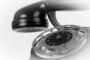 altes Telefon mi Wählscheibe abstrakt