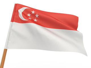 flag fluttering in the wind. Singapore