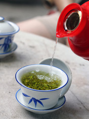 Grüner Tee in China