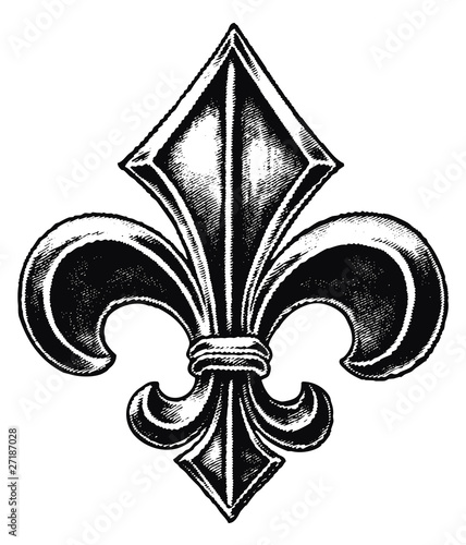 Gothic Fleur De Lis Stock Image And Royalty Free Vector Files On