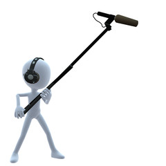 3D Guy Wtih A Microphone