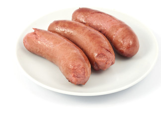 sausages on a plate