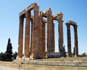 Ruins of Olympian Zeus temple, Athens - Greece