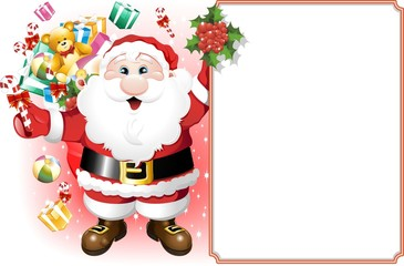 Babbo Natale con Pannello-Santa Claus with Panel-Vector