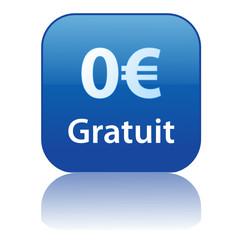 Bouton Web GRATUIT - 0€ (offre spéciale essai zéro euros soldes)