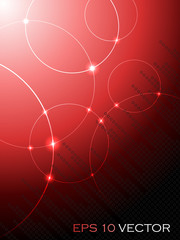 Abstract fantasy red background