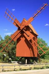 Stockholm, Historische Windmühle im Skansen