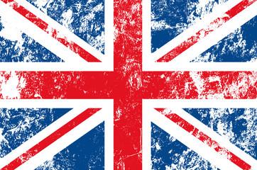 drapeau anglais usé