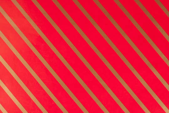 Striped red gift paper
